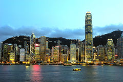 Hong Kong Beautiful night scene Stock Image