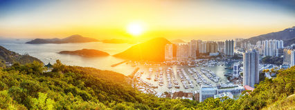 Hong Kong beautiful sunset Royalty Free Stock Image