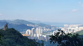 Hong Kong berg Arkivbild