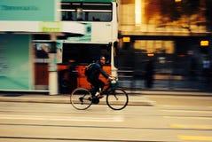 Hong Kong in bici Fotografia Stock