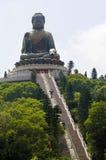 Hong Kong Big Buddha statyLantau ö, lodlinje Fotografering för Bildbyråer