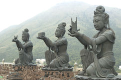Hong Kong Big Tian Tan Boedha en Po Lin Monastery Royalty-vrije Stock Foto