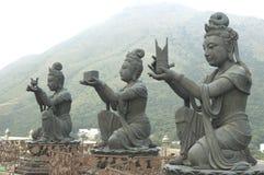 Hong Kong Big Tian Tan Buddha and Po Lin Monastery Royalty Free Stock Photo