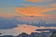 Hong Kong bij 2016 Stock Foto
