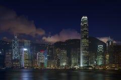 Hong Kong bij Nacht Royalty-vrije Stock Foto's