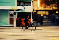 Hong Kong by bike Stock Photography