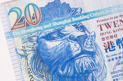 Hong Kong billete de banco del papel de 20 dólares Imagen de archivo