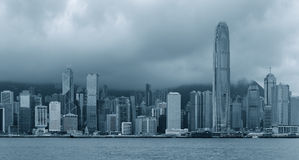 Hong Kong in black and white Royalty Free Stock Photos