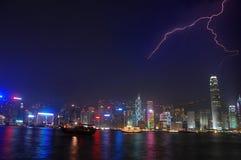 Hong Kong blixt arkivfoton