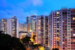 Hong Kong bostadsbyggnad royaltyfri foto