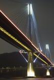 Hong Kong bridge. It is beautiful night scenes of Bridge in Hong Kong Stock Photo