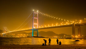 Hong Kong Bridge stockfoto