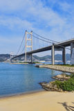 Hong kong bridge and beach Stock Photos