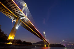 Hong Kong bridges at night Royalty Free Stock Image