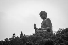Hong Kong Buddha-standbeeld op Lantau-Eiland Royalty-vrije Stock Foto's