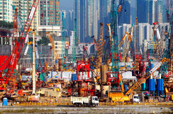 Hong kong building construction Stock Photography