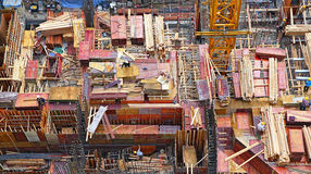 Hong kong building construction Stock Photography