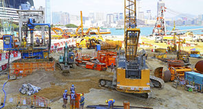 Hong kong building construction Royalty Free Stock Photos