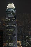 Hong Kong building by night Royalty Free Stock Photo
