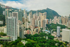 Hong Kong buildings in the middle of the hills Stock Image