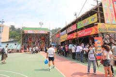 Hong Kong Bun Festival in Cheung Chau 2015 Royalty-vrije Stock Foto