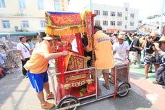 Hong Kong Bun Festival in Cheung Chau 2015 Royalty-vrije Stock Afbeelding