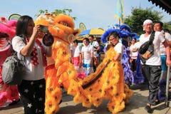 Hong Kong Bun Festival 2015 em Cheung Chau Imagem de Stock Royalty Free