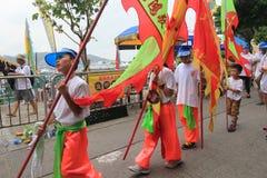 Hong Kong Bun Festival 2015 em Cheung Chau Fotografia de Stock