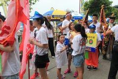 Hong Kong Bun Festival 2015 en Cheung Chau Foto de archivo libre de regalías
