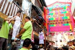 2016 Hong Kong Bun Festival Parade-Vlotter Stock Fotografie