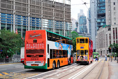 Hong Kong bus Stock Photos