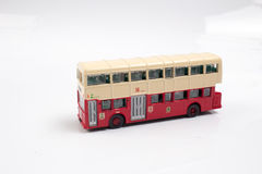 Hong kong Bus Isolated with Clipping Path Stock Photo