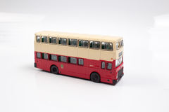 Hong kong Bus Isolated with Clipping Path Royalty Free Stock Photography