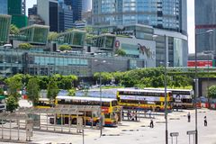 Hong Kong bus station Stock Photo