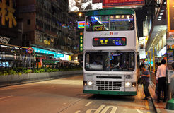 Hong Kong bus stop Royalty Free Stock Photos