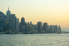 Hong Kong business district Royalty Free Stock Images