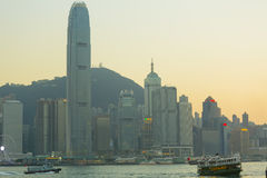 Hong Kong business district Stock Photography