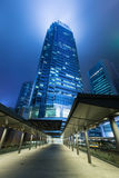 Hong Kong Business District. At Night stock images