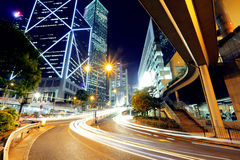 Hong Kong business district Stock Photography
