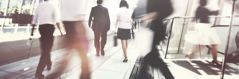 Hong Kong Business People Commuting Concept stock image