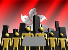 Hong Kong business team Royalty Free Stock Photo