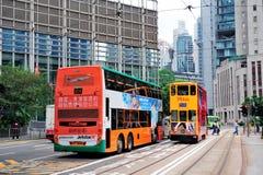 Hong Kong buss arkivfoton