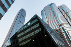 Hong Kong bussines center. Modern office buildings in central Hong Kong Royalty Free Stock Image