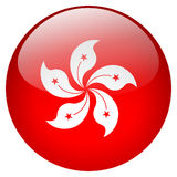 Hong Kong Button. Isolated on white background Royalty Free Stock Photo