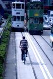 Hong Kong by bycycle Stock Photography