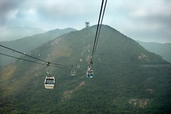Hong Kong Cable Car at Ngong Ping , Hong Kong Stock Images