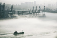 Hong Kong cargo port Stock Images