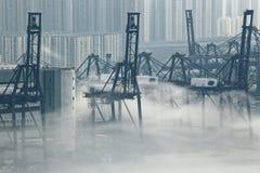 Hong Kong cargo port Royalty Free Stock Images