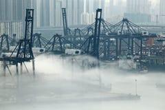 Hong Kong cargo port Stock Photo
