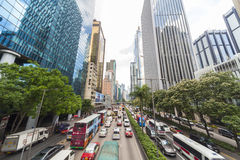 Hong Kong Cars and Taxi Traffic Stock Images